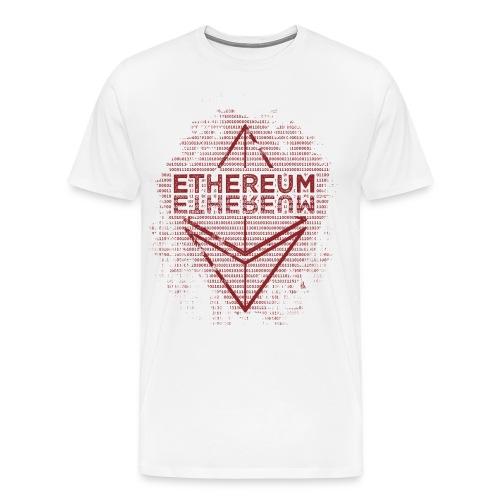 Ethereum Frontier Red design on white - Men's Premium T-Shirt