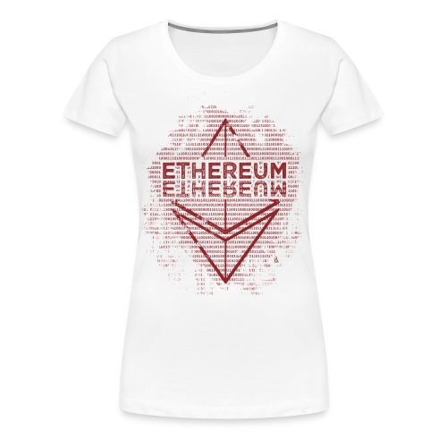 Ethereum Frontier Red design on white - Women's Premium T-Shirt