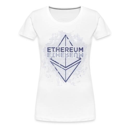 Ethereum Frontier Blue original on white - Women's Premium T-Shirt