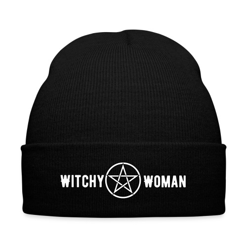 Witchy Woman Beanie - Knit Cap with Cuff Print