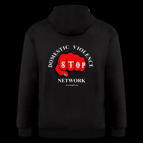 Men's Zipper Hoodie Stop Domestic Violence Network™ - Men's Zip Hoodie