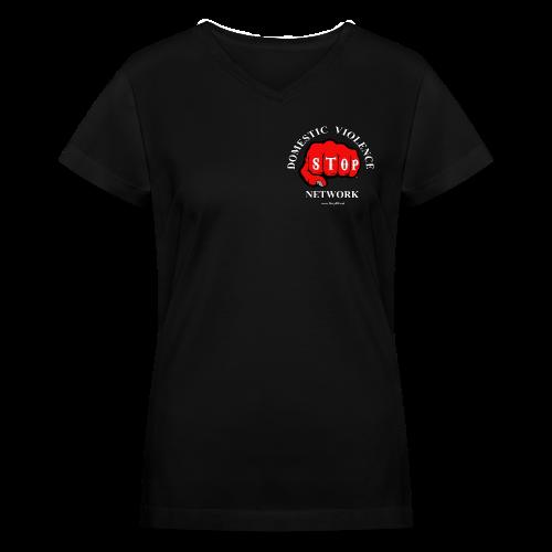 Women's V-Neck Stop Domestic Violence Network™ - Women's V-Neck T-Shirt