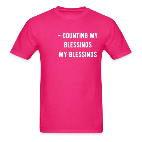 Counting My Blessings - Men's T-Shirt