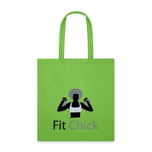 Fit Chick with Afro Tote Bag - Tote Bag