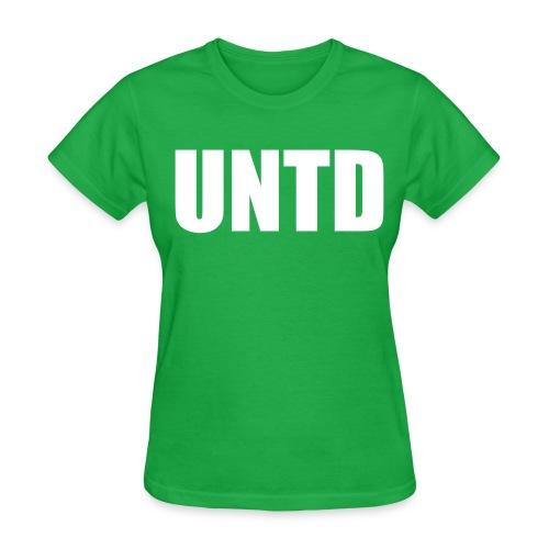 UNTD White Logo Women's Tee - Women's T-Shirt