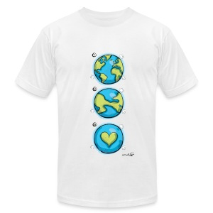 Peaceful World - Men's T-Shirt by American Apparel