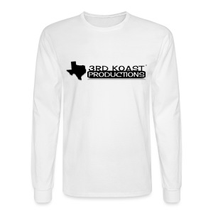 Men's White 3KP Long Sleeve - Men's Long Sleeve T-Shirt