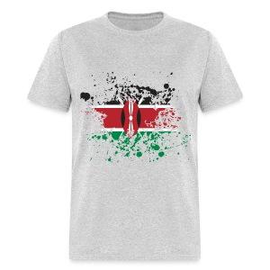 Kenya Flag Splash - Men's T-Shirt