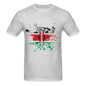 Kenya Flag Splash - Men's T-Shirt