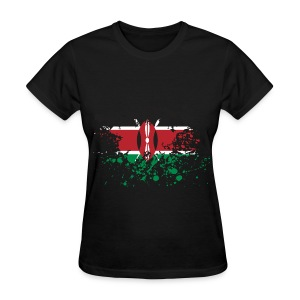 Kenya Flag Splash - Women's T-Shirt