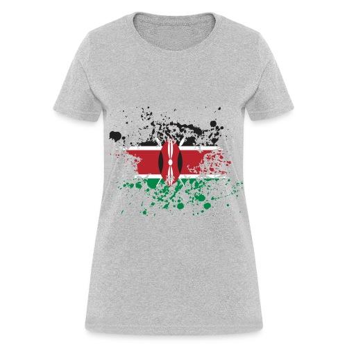 Kenya Flag Splash - Women's T-Shirt