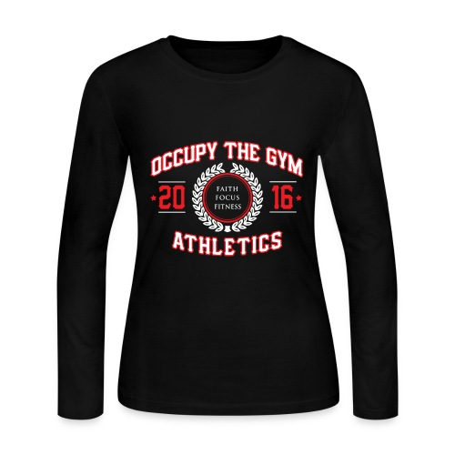 Occupy The Gym™ Ladies Tee - Women's Long Sleeve Jersey T-Shirt