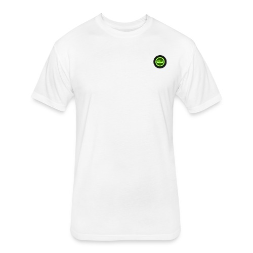 Men's Fitted Basic CJ Strength America Tee - White - Fitted Cotton/Poly T-Shirt by Next Level
