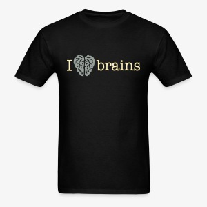 YellowIbis.com 'Medical One Liners' Men's / Unisex Standard T-Shirt: I love brains (Color Choice) - Men's T-Shirt