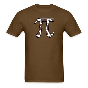 YellowIbis.com 'Mathematics Symbols' Men's / Unisex Standard T-Shirt: Cow Pi (Brown) - Men's T-Shirt