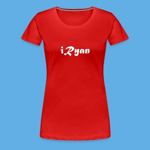 iRyan Logo Design Female T-Shirt - Women's Premium T-Shirt