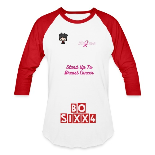 Bosixx4 Stand Up To Breastcancer 2016 Mens Baseball Shirt - Baseball T-Shirt
