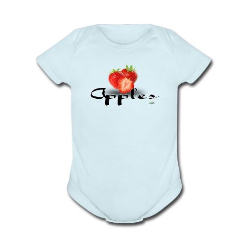 Baby Bodysuit - Apples - Organic Short Sleeve Baby Bodysuit