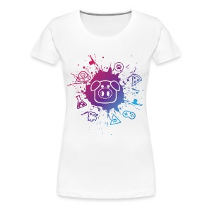 Women's Slapped Ham Paint Splat Tee - Women's Premium T-Shirt