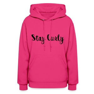 Stay Curly Pullover - Women's Hoodie