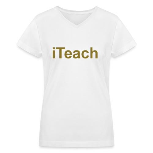 Women's V-Neck T-Shirt in Flex Print (smooth) - Women's V-Neck T-Shirt