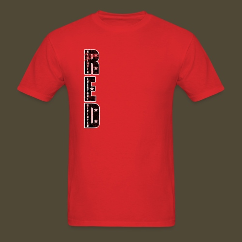 R.E.D. 3 Front And Back - Men's T-Shirt