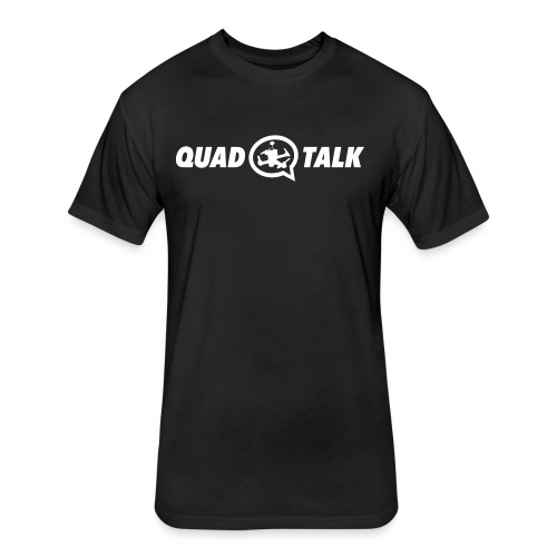 Quad Talk Podcast Full Logo T-shirt - Fitted Cotton/Poly T-Shirt by Next Level