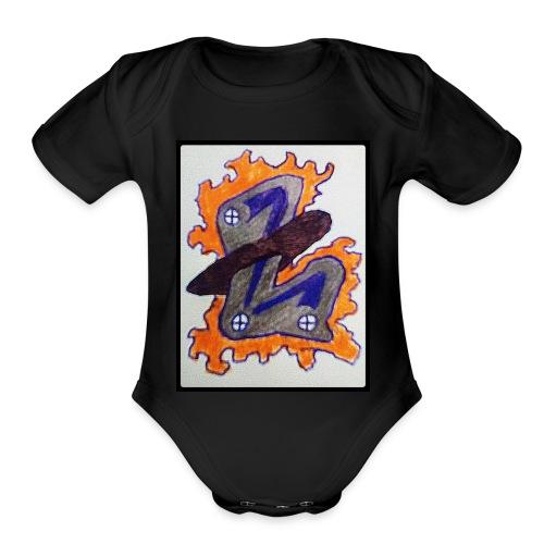 #LTRN Logo Baby One Piece [BLACK] - Organic Short Sleeve Baby Bodysuit