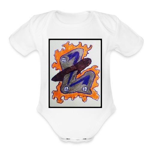 #LTRN Logo Baby One Piece [WHITE] - Organic Short Sleeve Baby Bodysuit