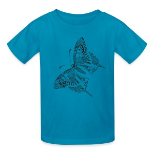 Tribal Butterfly Kids T Shirt from South Seas Tees - Kids' T-Shirt