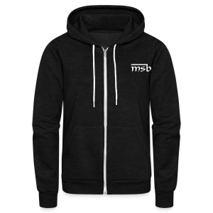 MSB zip - Unisex Fleece Zip Hoodie by American Apparel