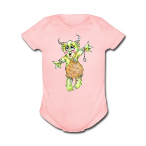 Monster  - Short Sleeve Baby Bodysuit