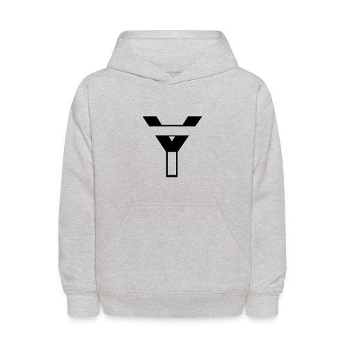Kids' Hoodie YegsTv Logo (Black) - Kids' Hoodie