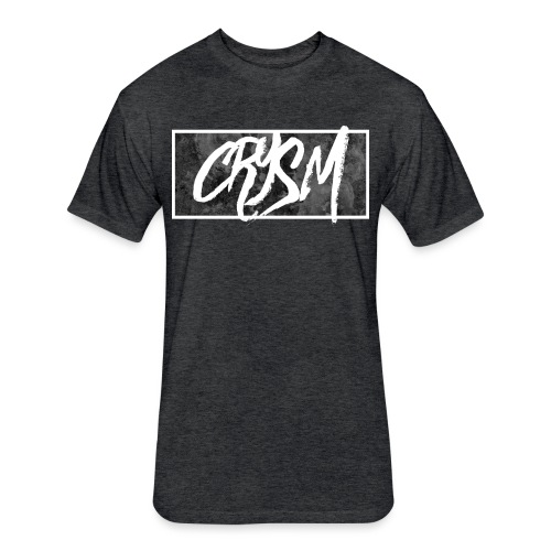 Crysm Graffiti Black - Fitted Cotton/Poly T-Shirt by Next Level