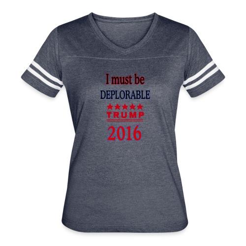Trump Deplorable - Women's Vintage Sport T-Shirt
