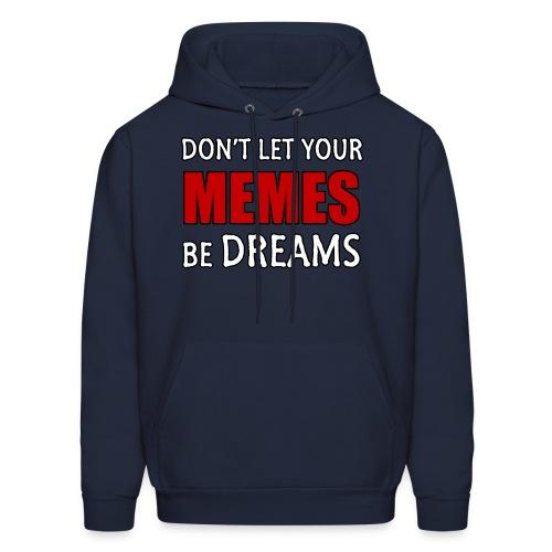 Mens Memes & Dreams Hoodie: Red on Navy - Men's Hoodie