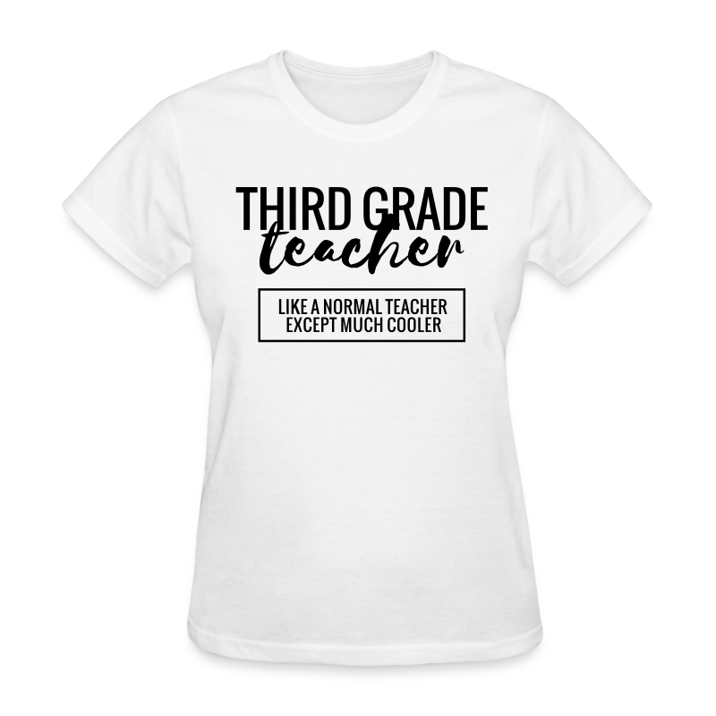 Cool Third Grade Teacher - Women's T-Shirt