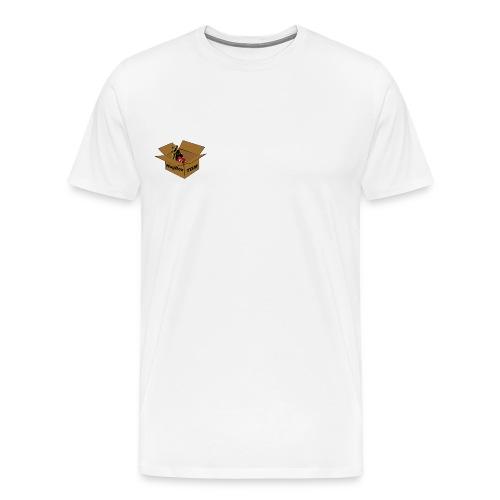 Hugbox TGM White T-Shirt - Men's Premium T-Shirt