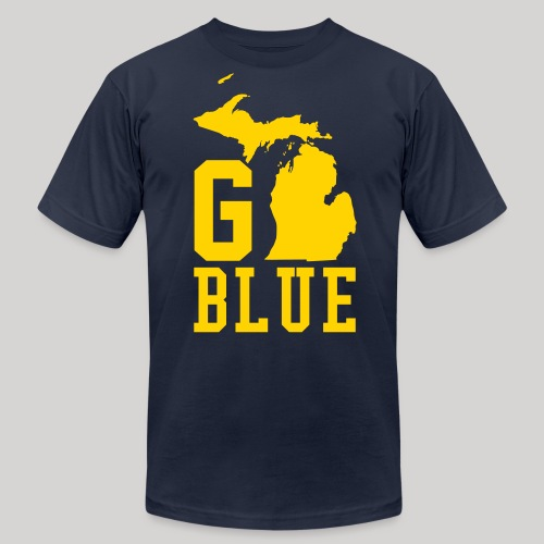 Go BLUE - Men's Fine Jersey T-Shirt