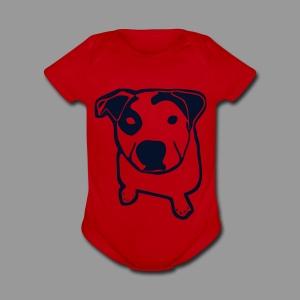 Pit Bull T-Bone - Short Sleeve Baby Bodysuit