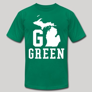 Go GREEN - Men's T-Shirt by American Apparel