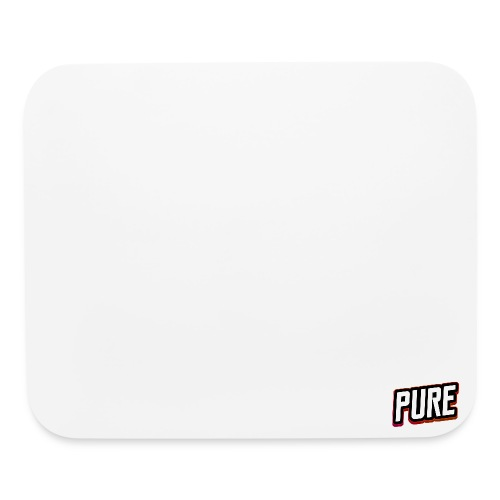 PURE White mouse pad - Mouse pad Horizontal