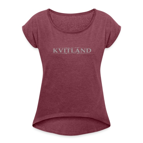 Kvitland, Women´s Rolled Sleeve Boxy T-Shirt - Women's Roll Cuff T-Shirt
