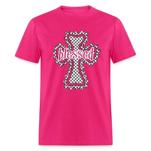 Unisex T-Shirt - Black & White Houndstooth - Men's T-Shirt