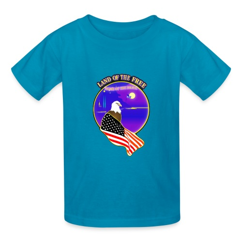 Land of the Free, Home of the Brave Kid's T-Shirt - Kids' T-Shirt