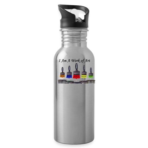 I Am A Work of Art - Water Bottle