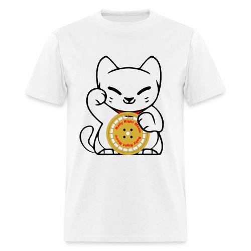 Rally Cat White Tee - Men's T-Shirt