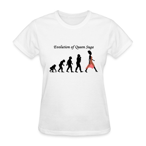 Evolution of Queen Suga - Women's T-Shirt