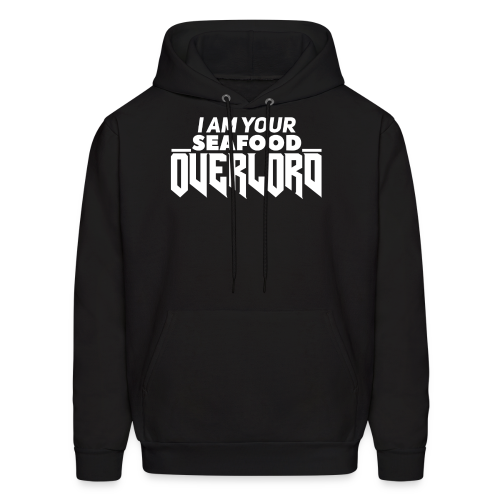 I Am Your Seafood Overlord WHITE Men's Hoodie - Men's Hoodie
