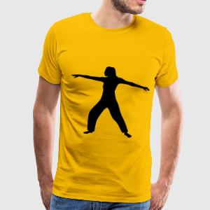 Tai Chi Woman Silhouette - Men's Premium T-Shirt